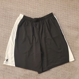 Black and White Under Armour shorts